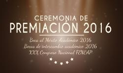 Ceremonia de Premiación 2016 de la Facultad de Ciencias Políticas y Administración Pública