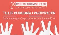"""Cierre convocatoria 2º concurso para monitores """"Taller Ciudadanía + Participación"""""""