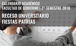 Receso universitario de Fiestas Patrias