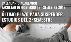 Último plazo para suspender estudios del 2° semestre